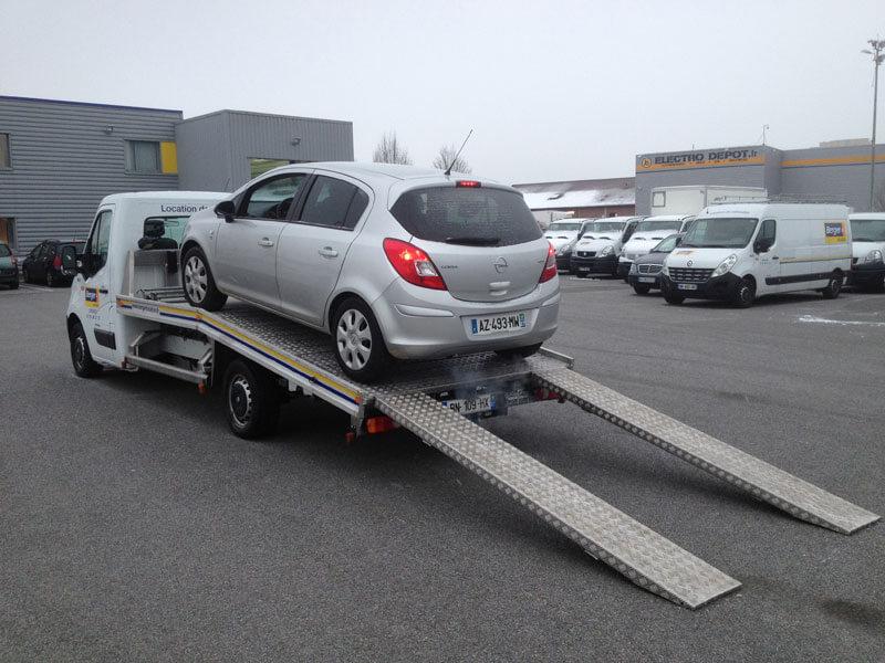 Le porte voiture 3 5t berger location - Location utilitaire porte voiture ...